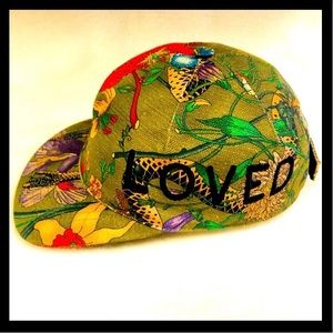 New Gucci Flora Military Green Baseball Hat